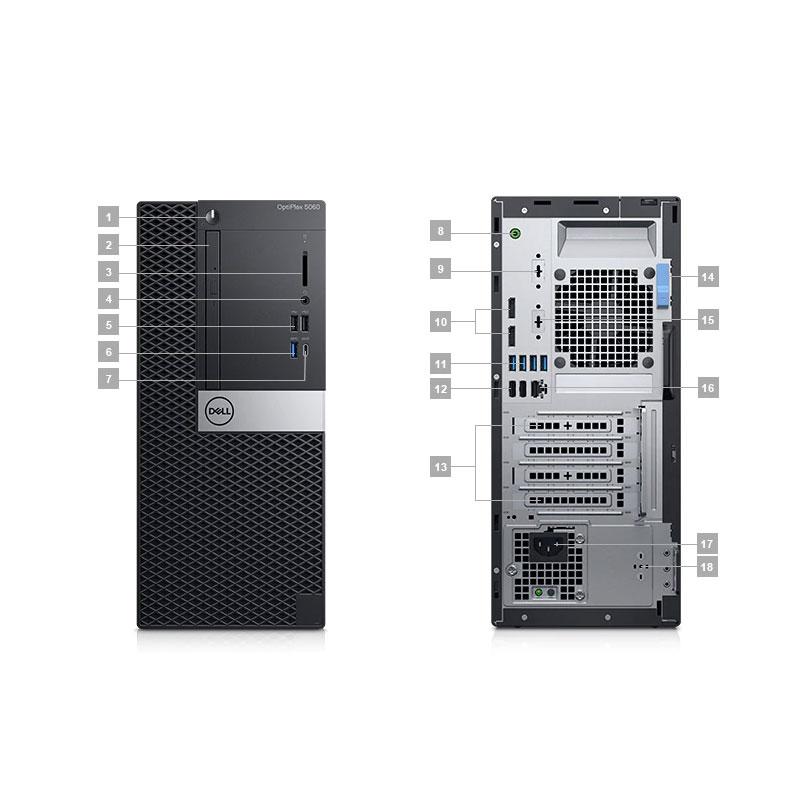 Dell OptiPlex 5060 MT i5-8500 3 0G 9M 6C UMA 8G 1TG Ubu VGA Port