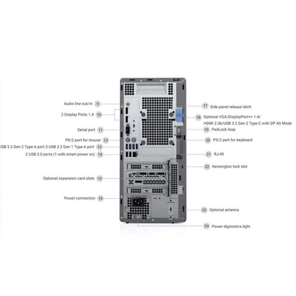 Optiplex-7080-MT-Rear-Detail