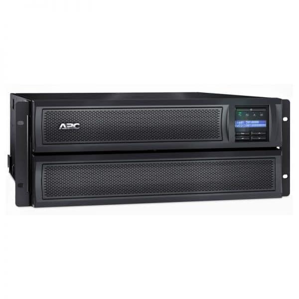 APC-SMX3000HV-Front-Leftt-Rack-with-Battery